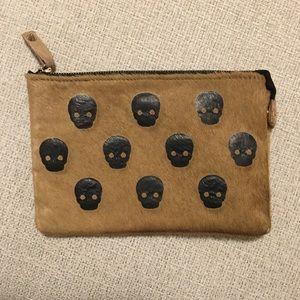 Zara Cow Hide Skull Clutch/Pouch